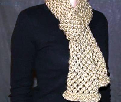 Как связать шарф спицами (видео урок)