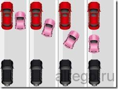 Параллельная парковка  передним и задним ходом. (видео урок)