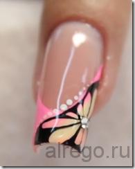 Наращивание гелевых ногтей. Радужный френч. (Видео уроки)