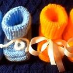 Вязание детских пинеток спицами с описанием (видео урок)