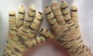 Видео урок - как связать перчатки спицами