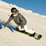 Сноуборд для начинающих, подъемник и катание на склоне