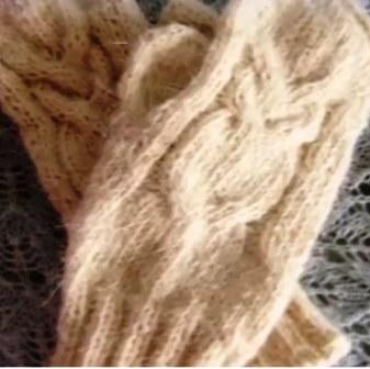 Как связать варежки спицами с узором Сова
