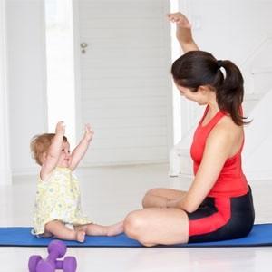 Гимнастика  после родов для похудения в домашних условиях  - видео