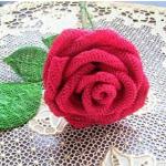 Вязание крючком, цветок розы.