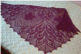 вязание ажурной шали крючком видео
