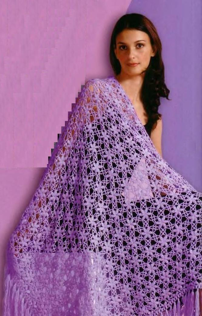 Вязание крючком платки и шали